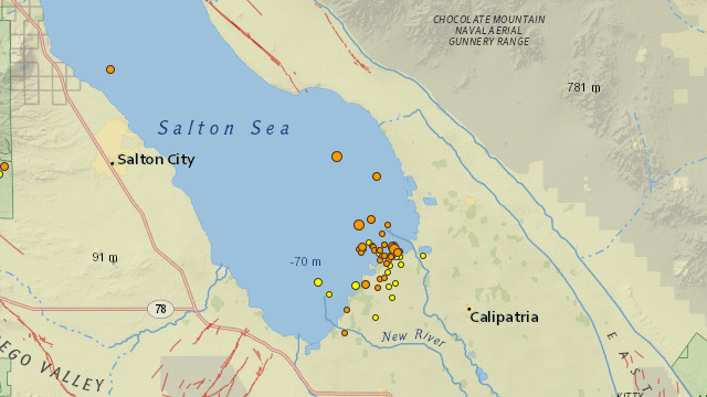 Salton Sea earthquake swarm