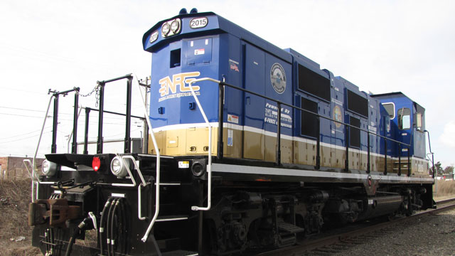 Richmond Pacific Railroad's clean-diesel switch engine, the first of its kind in the U.S.