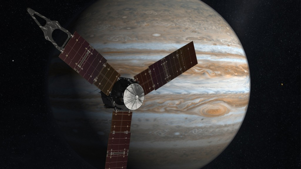 NASA's Juno spacecraft is expected to reach Jupiter, our solar system's largest planet, in July 2016. (NASA)