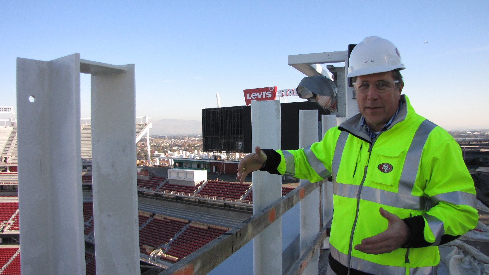 As project executive, Jack Hill oversees the construction of Levi's Stadium. (Molly Samuel/KQED)