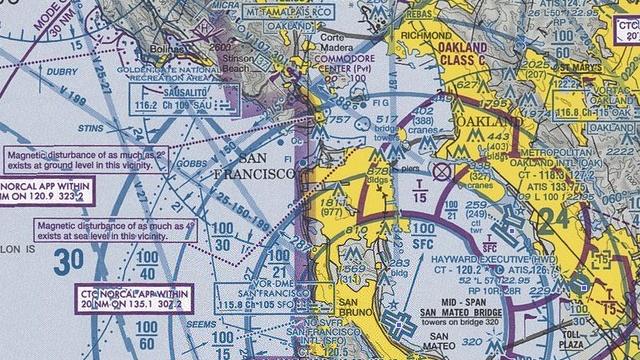 OAK navigation chart