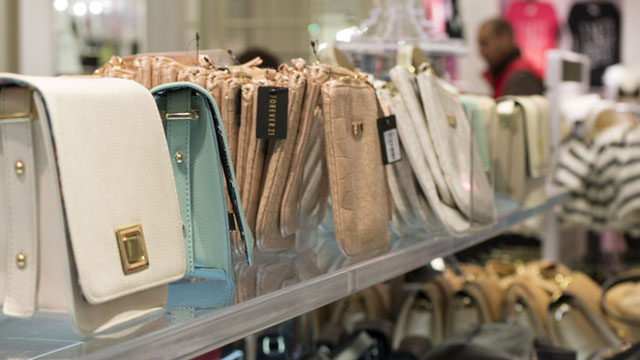 Fake leather goods sold at stores like Forever 21 may contain high levels of lead. (Sara Bloomberg/KQED)
