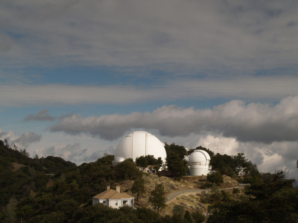 Mt. Hamilton's Lick Observatory houses the most powerful telescope in Northern California. (flickr/vpanicker)
