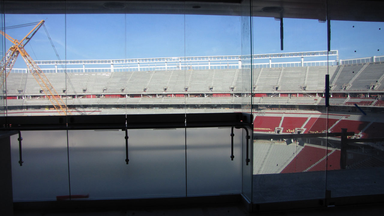 The view from one of the suites in Levi's Stadium. (Molly Samuel/KQED)