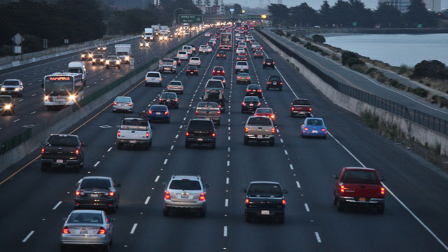 A key way for California to cut  emissions is by boosting low- and zero-emission vehicles. (Deborah Svoboda/KQED)