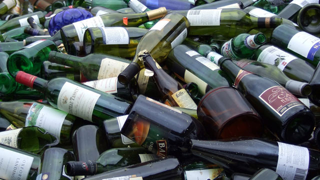 In California, beer bottles do carry a deposit, but liquor and wine bottles don't. (James Cridland/Flickr) http://www.flickr.com/photos/jamescridland/393978012/