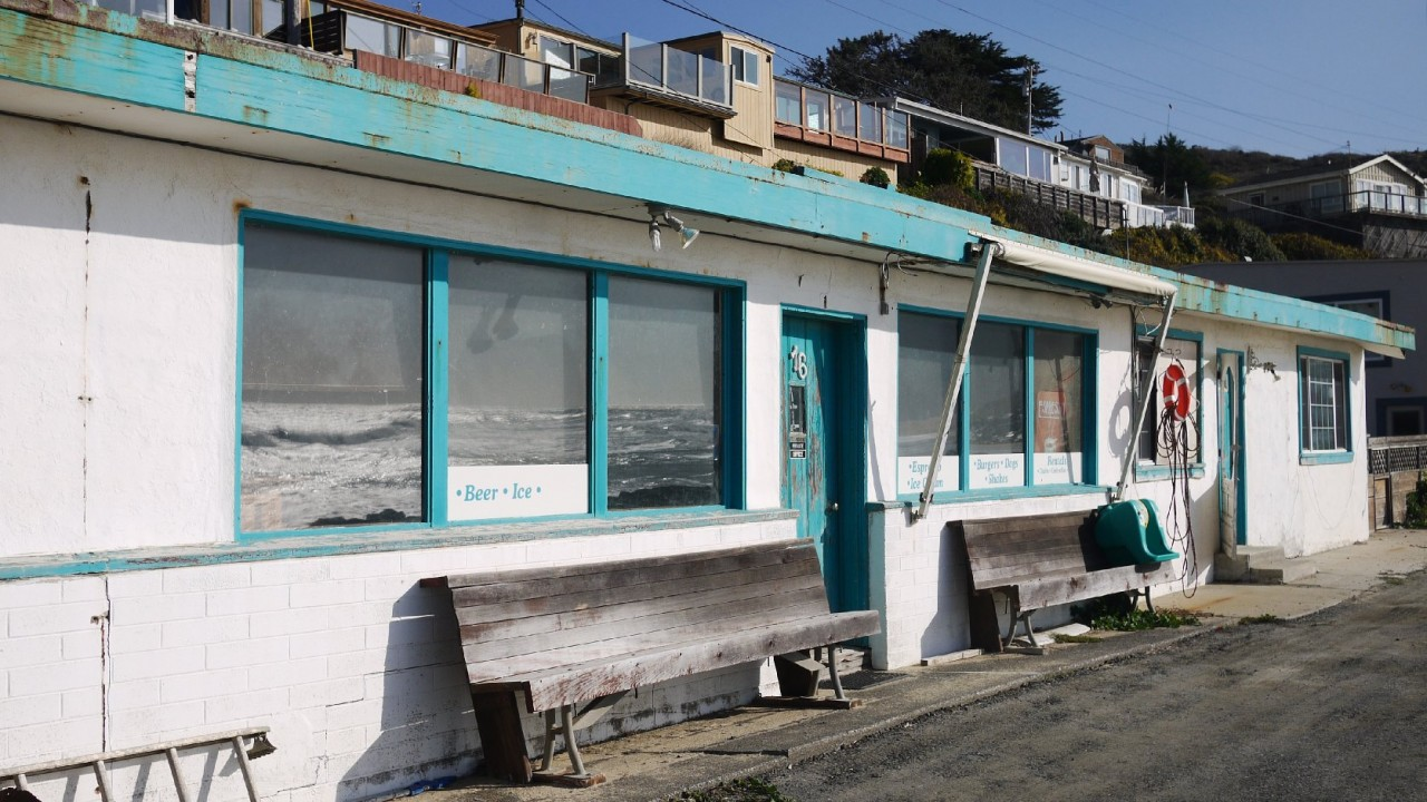 The beach's former owners, the Deeney family, ran a cafe on Martins Beach. (Amy Standen/KQED)