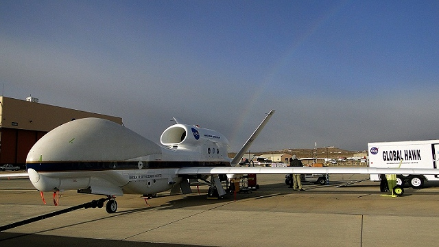 Global Hawk; NASA photo by C. Fratello