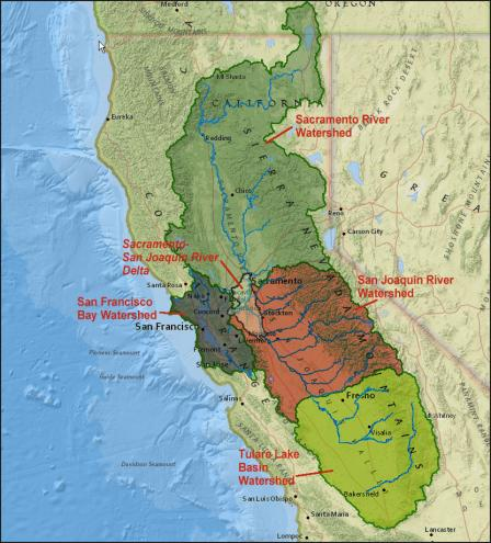 The San Francisco Bay Delta Watershed, from epa.gov