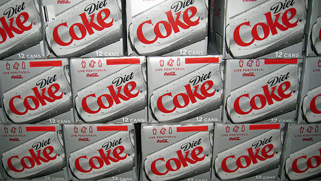 boxes of diet Coke