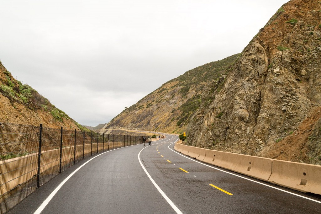 The new Devil's Slide Trail replaces a treacherous stretch of Highway 1. (Josh Cassidy/KQED)