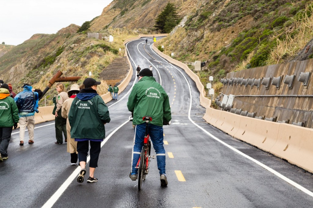 Members of the Devil's Slide Trail Ambassador Program will work with park staff to provide safety observations and visitor information. (Josh Cassidy/KQED)