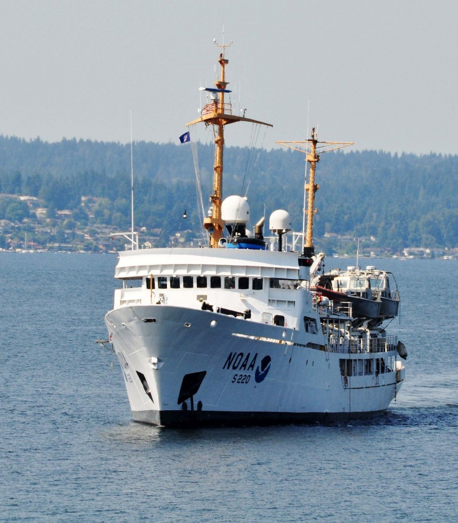 The Fairweather is one of the research vessels NOAA uses for ocean acidification studies. (NOAA)
