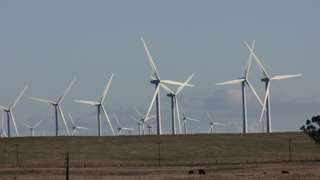 Wind turbines in Solano County. (Craig Miller/KQED)