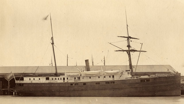 The SS City of Chester was a passenger steamship heading for Eureka. (San Francisco Maritime National Historic Park)
