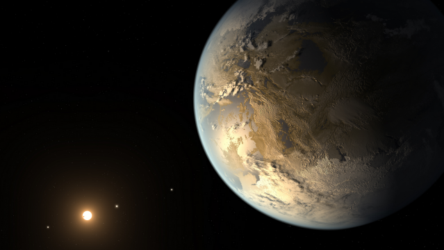 The artistic concept of Kepler-186f is the result of scientists and artists collaborating to imagine the appearance of these distant worlds.