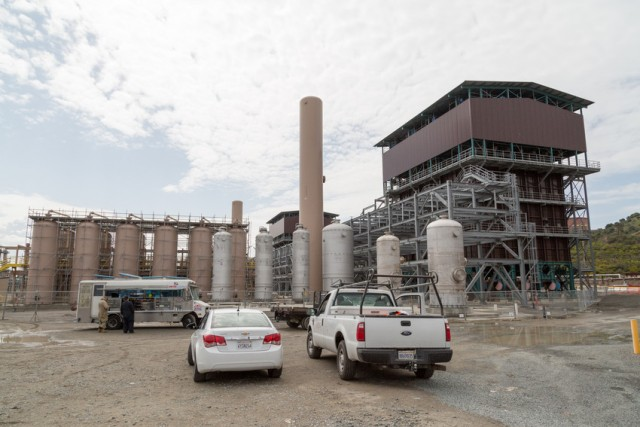 The partially-built hydrogen plant. (Josh Cassidy/KQED)