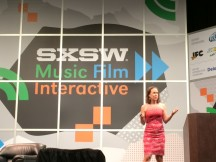 23andMe CEO Anne Wojcicki, speaking at the annual SXSW festival in Austin, Texas in March 2014. (Jenny Oh/KQED)