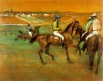 """Edgar Degas, """"Race Horses"""""""