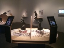 Rodin's hand sculptures with iPads