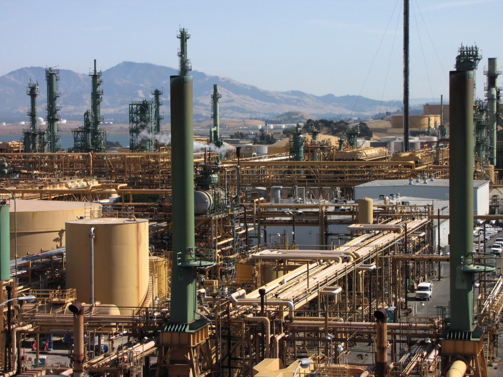 The Valero refinery in Benicia is one of five refineries in the Bay Area. (Craig Miller/KQED)