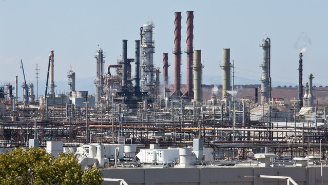 The Chevron Refinery in Richmond is looking to increase its capacity to process crude oil with higher sulfur content.