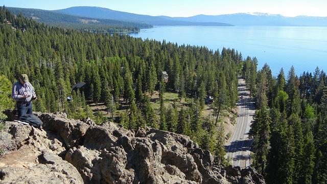 Lake Tahoe landslide scar