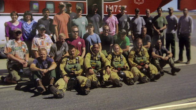 The California Smokejumpers Class of 2012. Franki Betancourt, seated front row, center, was in his first season as a smokejumper. (Courtesy of California Smokejumpers)