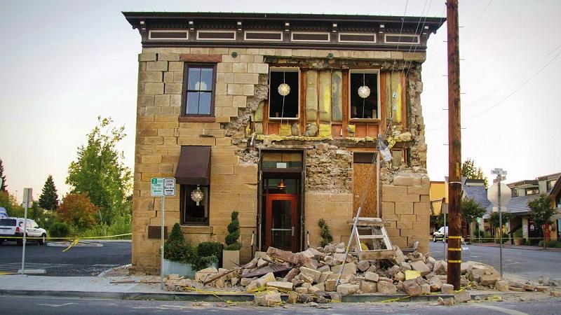 Napa earthquake damage