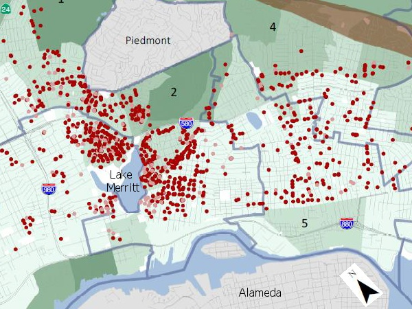 Oakland soft-story inventory map