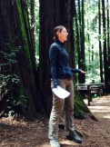 "Deborah Ziertan, Education Manager with Save the Redwoods League, instructs naturalists about redwood ecology and the ""Fern Watch"" in the East Bay redwoods."