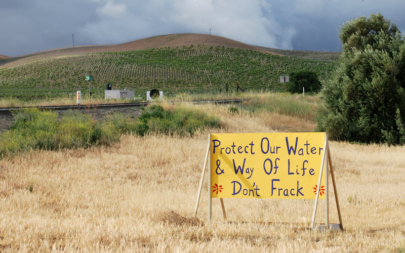 San Benito County voters approved a fracking ban, but it's likely to face challenges. (Gabriela Quiros/KQED)