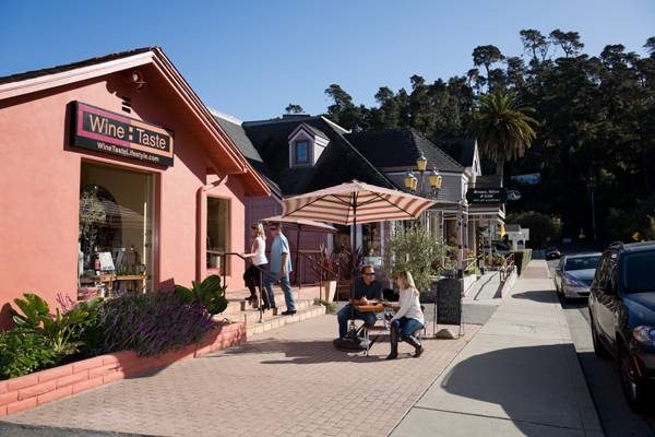 Cambria is a tourist town filled with restaurants and wine shops, some of which had to truck in water or use bottled water when supplies were scarce. (Wine Coast Country)