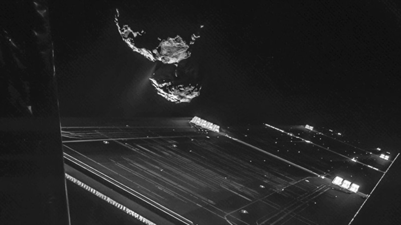 ESA's Rosetta spacecraft snapped this selfie with comet 67P/C-G. (Rosetta/ESA)