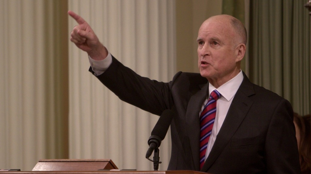 During his inaugural address, Gov. Jerry Brown set new goals for California's renewable energy standards that are the most ambitious in the country.  (Andrew Nixon/Capital Public Radio)