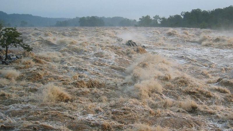 Muddy floodwater