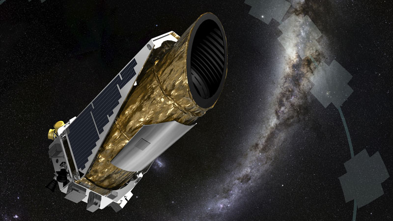 Artist illustration of the Kepler spacecraft. (Ames Research Center, JPL-Caltech, T. Pyle/NASA)