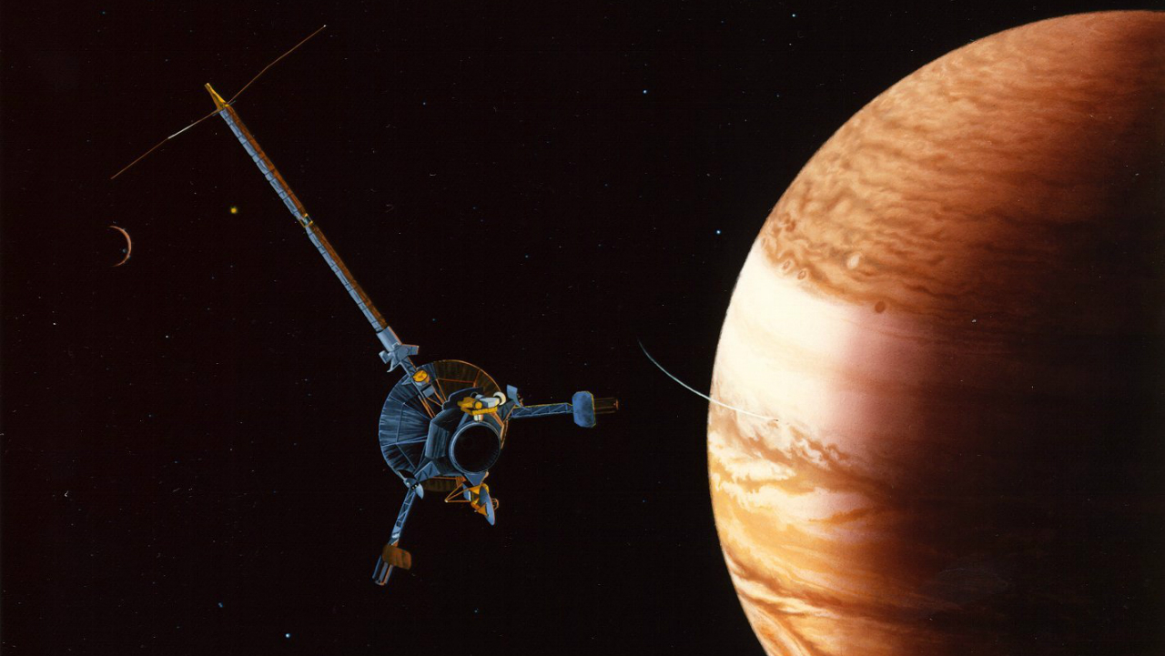 "With its leather jacket and earring, Jupiter may have been a very, very bad influence on ""super-Earths"" during freshman year of the solar system. (Image courtesy NASA)"