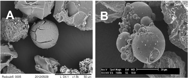 Lightning-induced volcanic spherules