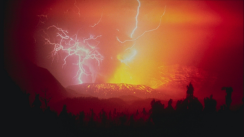 Volcanic lightning can melt ash into tiny spheres of glass