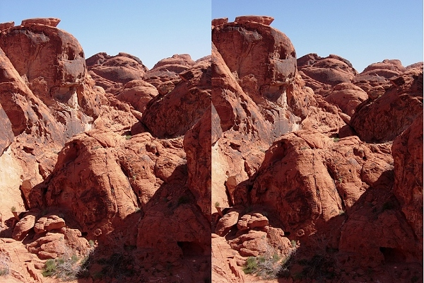 Stereo image from Valley of Fire, Nevada