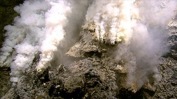 """White smokers""--hydrothermal vents on the ocean floor (NOAA)"