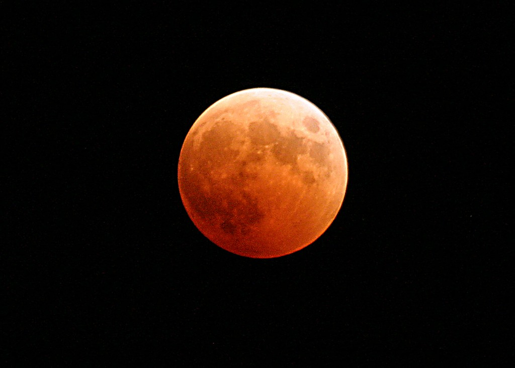 Snapshot of a lunar eclipse from the Naval Air Station on Whidbey Island, Wash. in 2004. (Courtesy U.S. Navy)