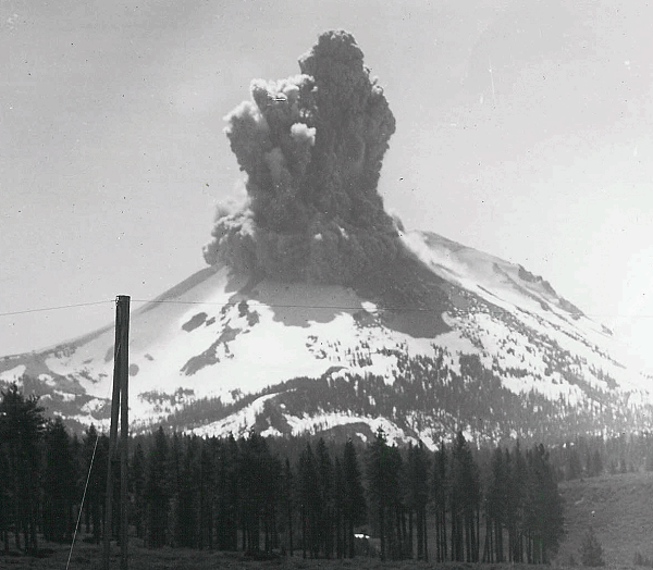 Steam explosion at Lassen, June 1914