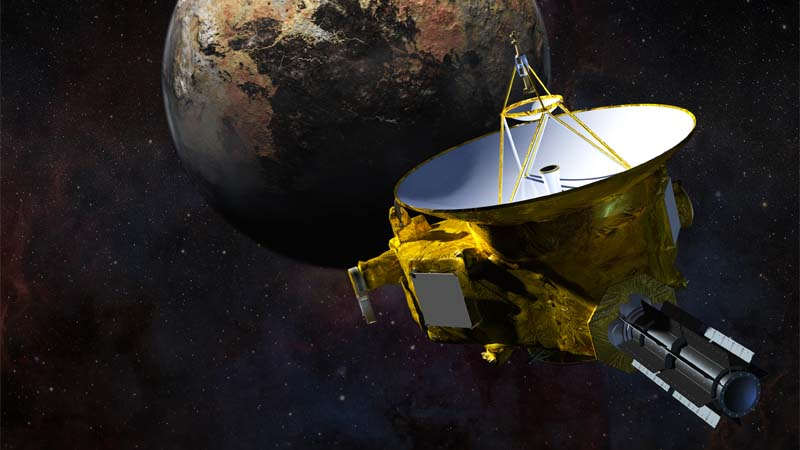 Artist concept of New Horizons flyby of Pluto. (Johns Hopkins University Applied Physics Laboratory/Southwest Research Institute)