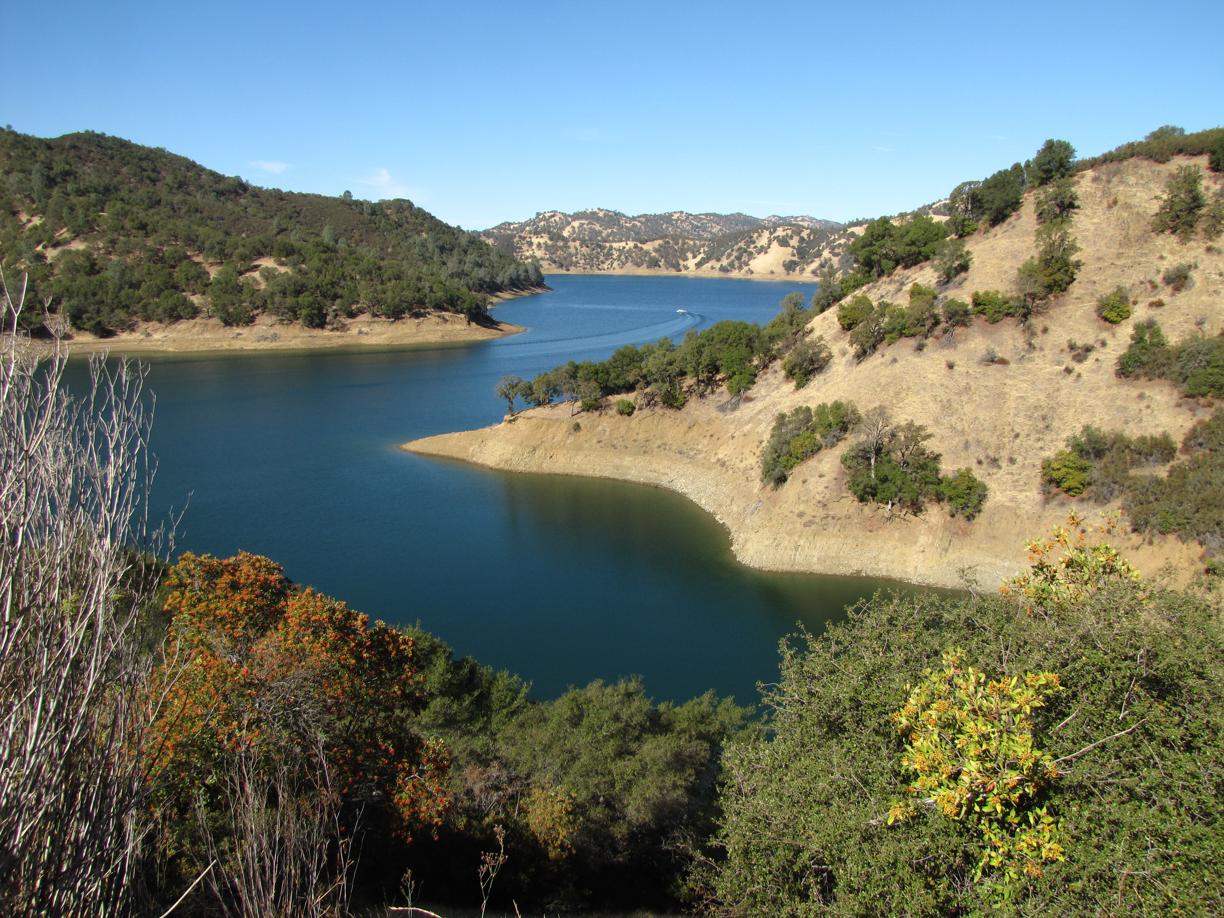 Lake Berryessa in October of 2012. The lake is no longer part of a proposed national monument.