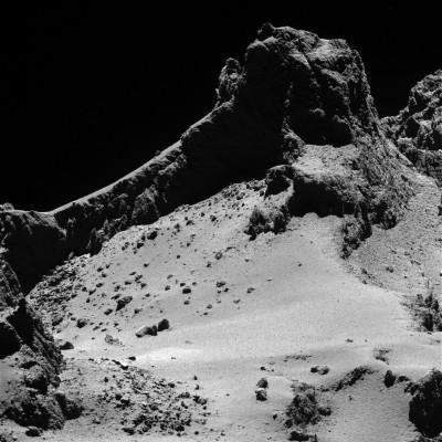 Surface close-up of comet Churyumov-Gerasimenko taken by the Rosetta spacecraft. (Rosetta/European Space Agency)