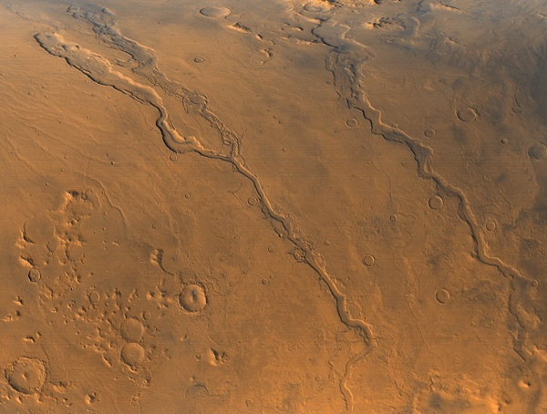 These ancient river valleys coursing down the side of the Martian volcano Hecates are evidence the planet had water. But whether Mars could have supported life depends on when it was wet, and for how long. (NASA)