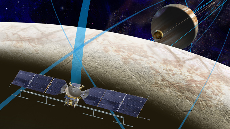 Artist concept of NASA's proposed Europa mission. (NASA/JPL-Caltech/SETI Institute)