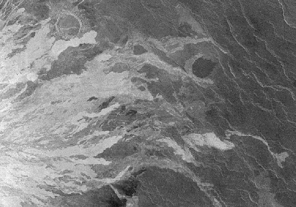 Lava flows on Venus